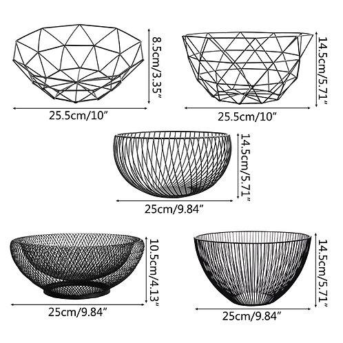 Black Metal  Storage Bowls