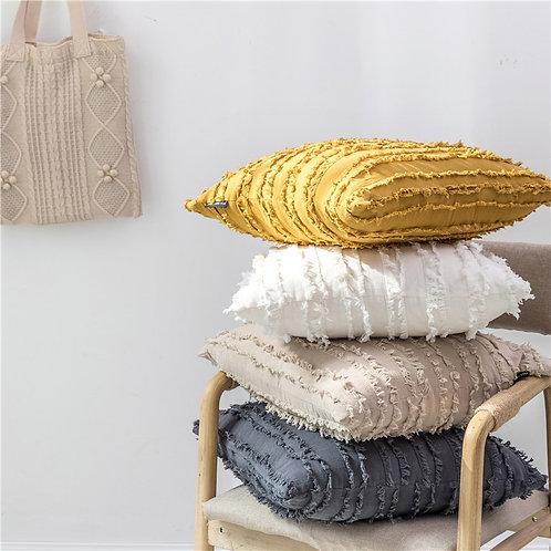 "Square Cotton Pillow Cover - 18"""