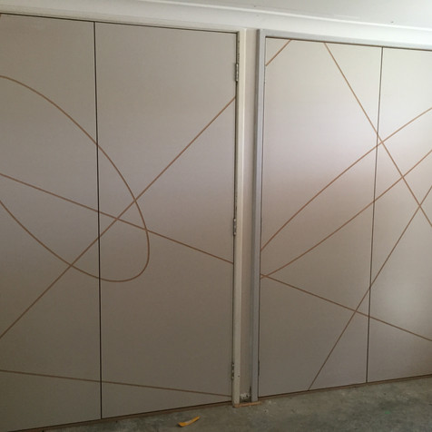 Custom Pattern cut into SolidCore Timber Doors