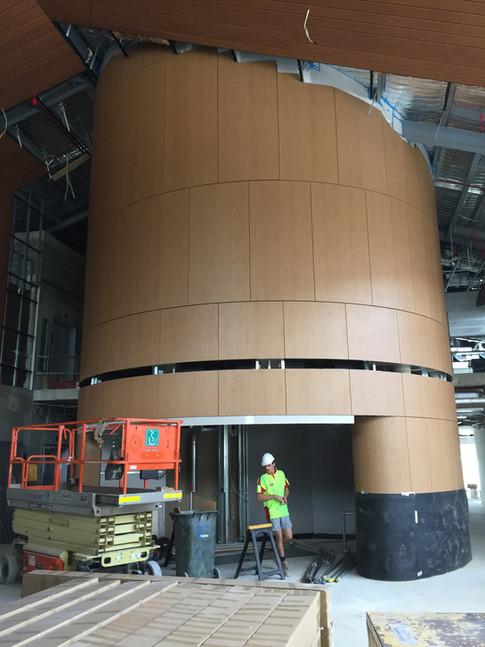 Feature Curved Timber Cladding