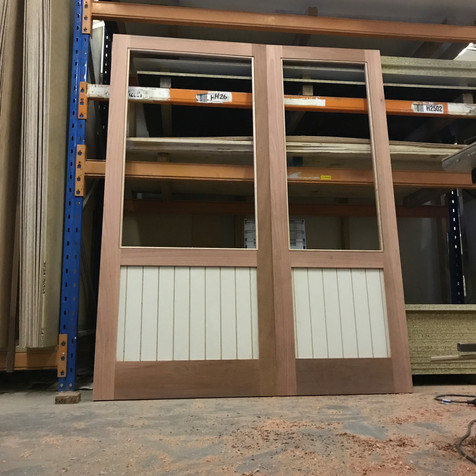 Custom Glazed and Vertical Panelled Doors
