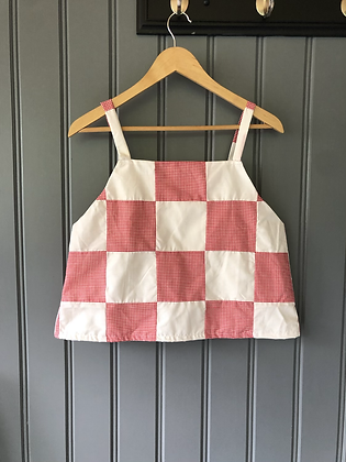One-of-a-kind: Picnic Gingham Apron Tank (M))