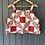Thumbnail: One-of-a-kind: Red Square Floral Apron Tank (L)