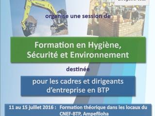 """""""FORMATION COUP DE POING"""" sur l'Hygiène, Sécurité et Environnement (HSE)"""