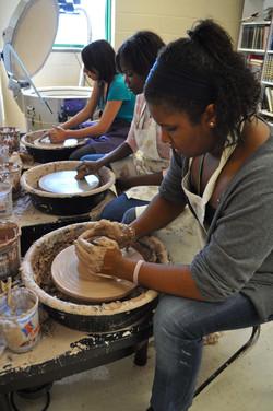 Working in the Ceramics Studio