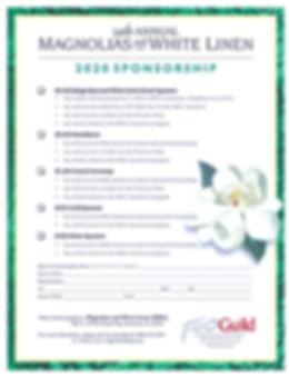 Magnolias and White Linen Sponsorships