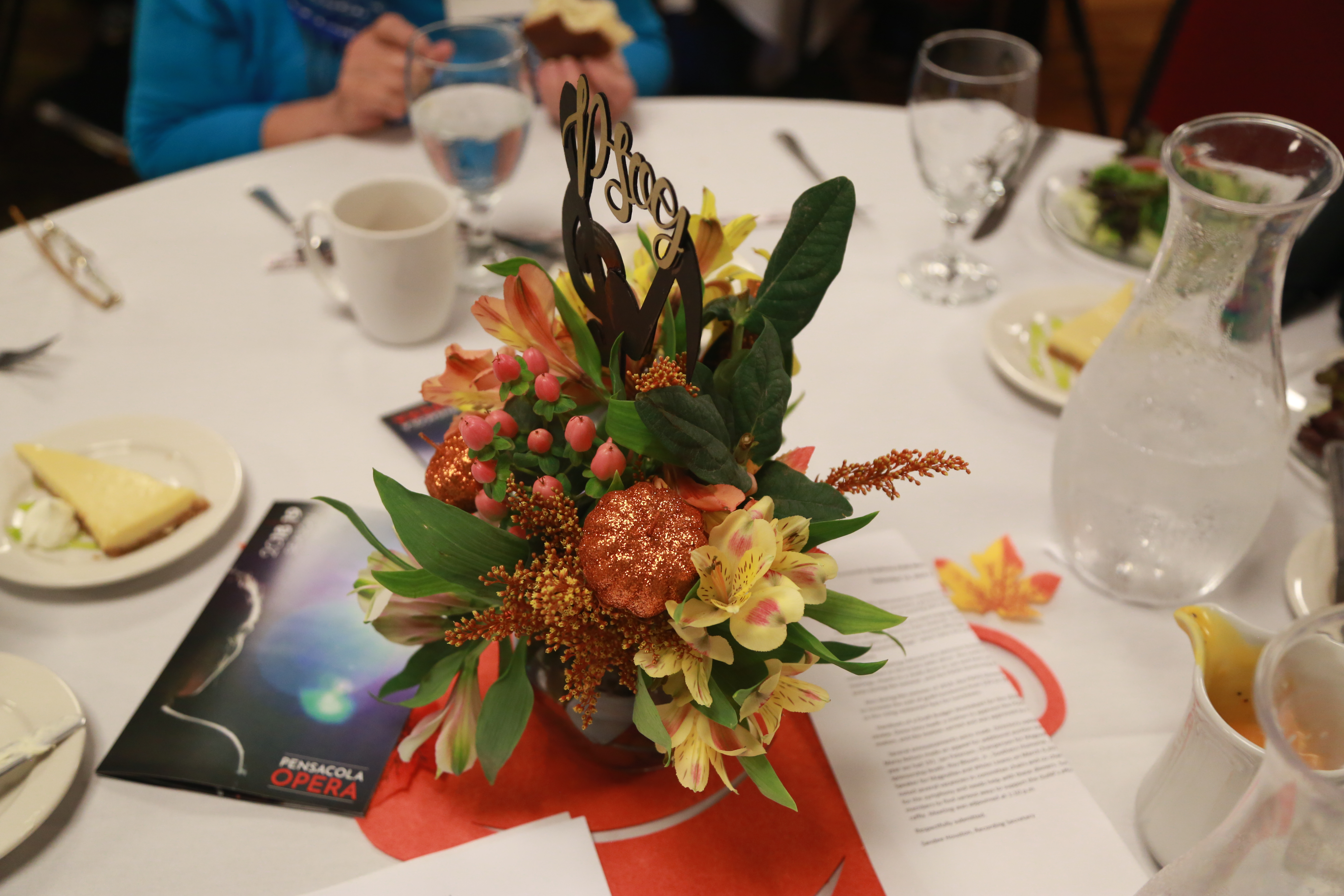 Table decor, October 2018 Luncheon