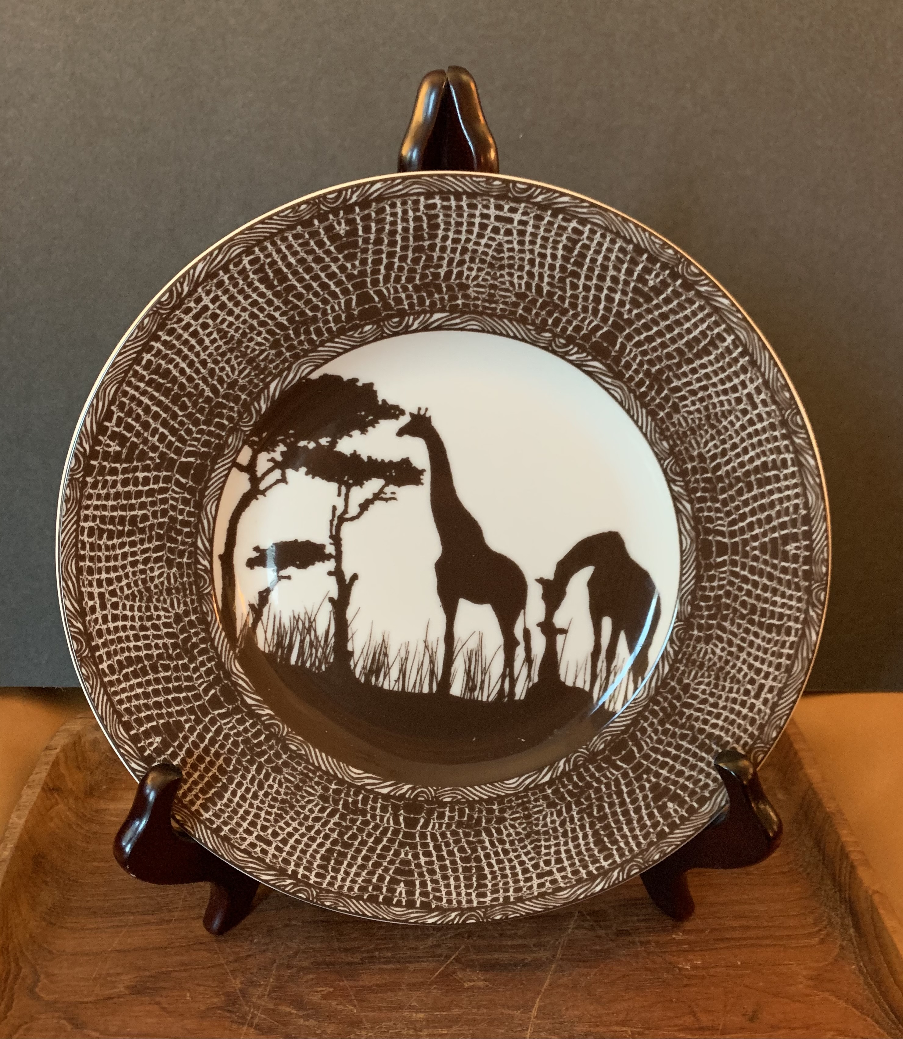 Four Fine China African Plates