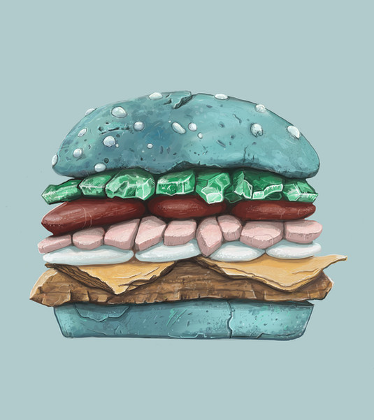 stone hamburger