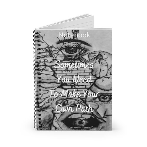 Many Faces Spiral Notebook - Ruled Line