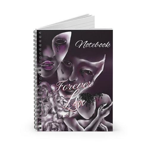 Masked Love Spiral Notebook