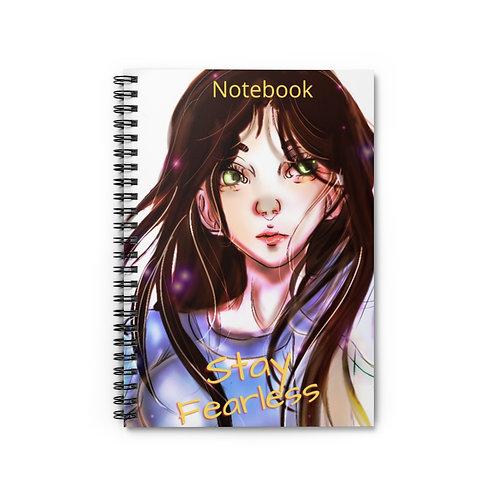 Cute Amara Spiral Notebook - Ruled Line