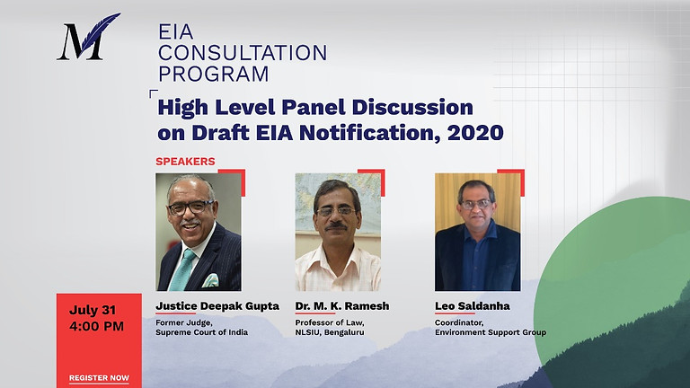 High Level Panel Discussion on the Draft EIA Notification, 2020