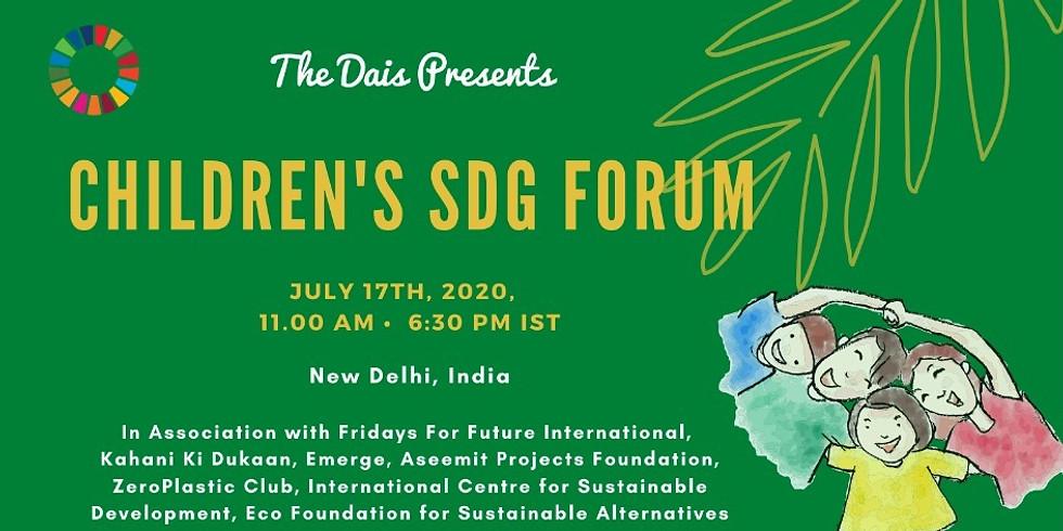 UN 75 Dialogue: The Role of Children in Achievement of SDGs
