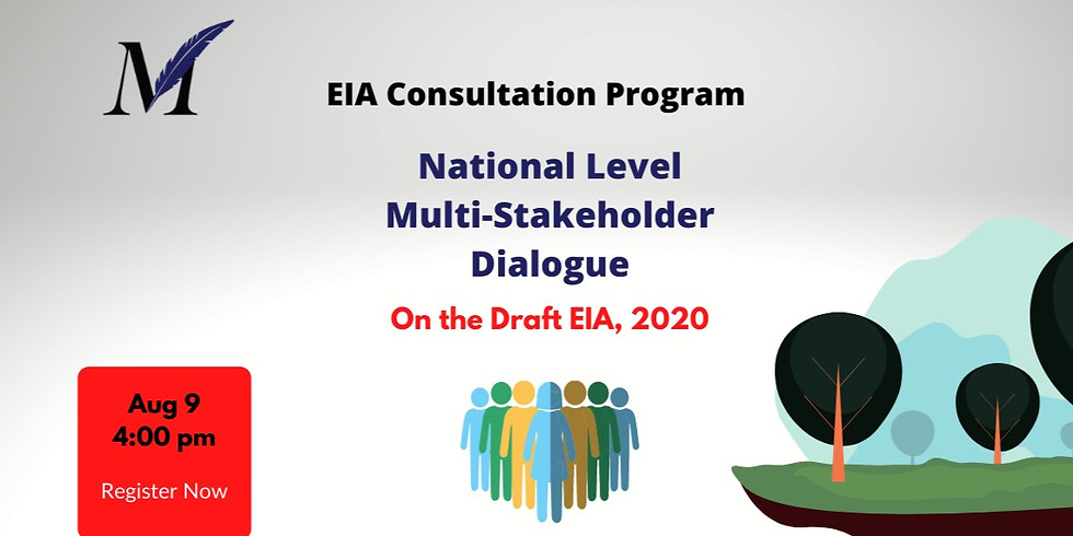 National Level Multi-stakeholder Dialogue on the Draft EIA, 2020