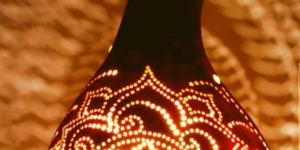 סדנה ליצירת גופי תאורה מדלעות נוי (1)