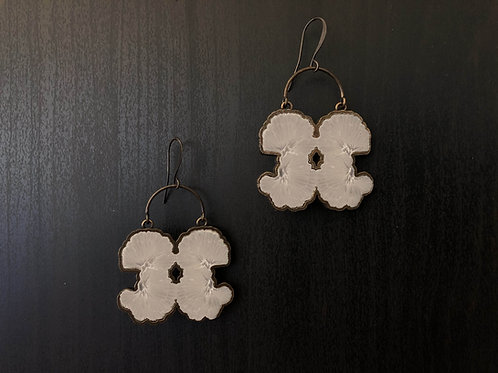 The Alabaster earrings White