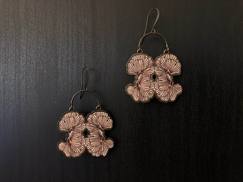 The Alabaster earrings Brown