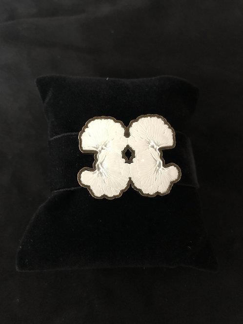 The Alabaster Velvet Bracelet White