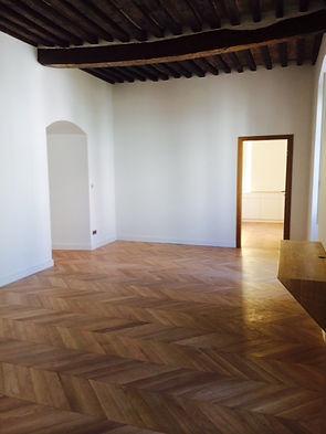 Ajaccio renovation totaleappartement 150m2 style ancien poutres parquet boiseries