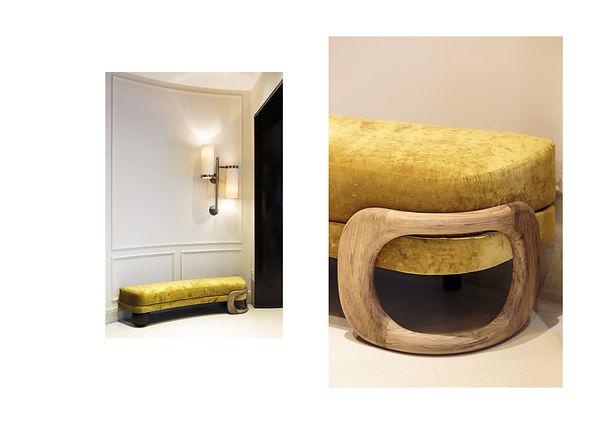 Hotel montalembert paris 7 lobby 5 etoiles mobilier sur mesure desgn etarchitecture intéreieure