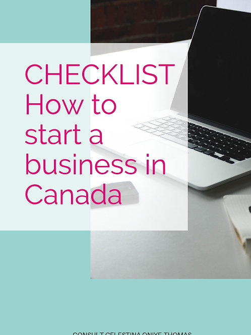 CHECKLIST- Canada Starting your business