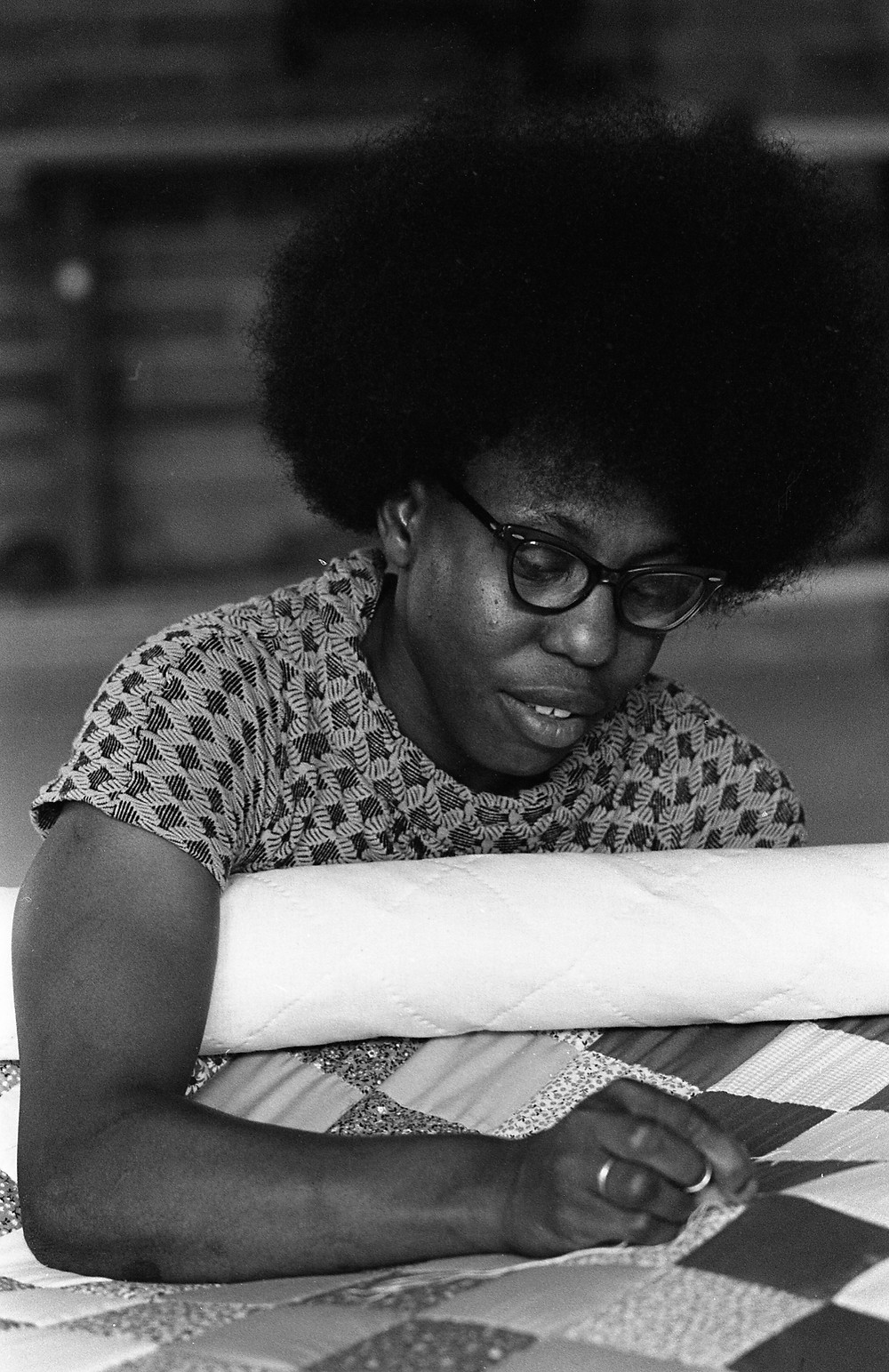 Freedom Quilting Bee, Alberta, Alabama. June 1974. Photograph by Pat Goudvis. Used with permission.