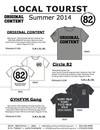 Local Tourist_Summer 2014_Linesheet