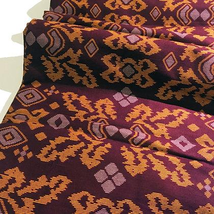 Batik Javanais Ocre Rouge. 100 % Coton.
