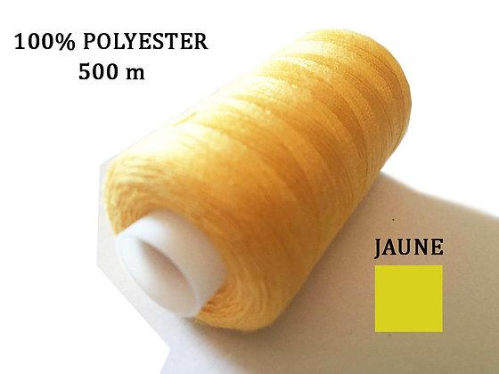 Fil 100% Polyester Jaune