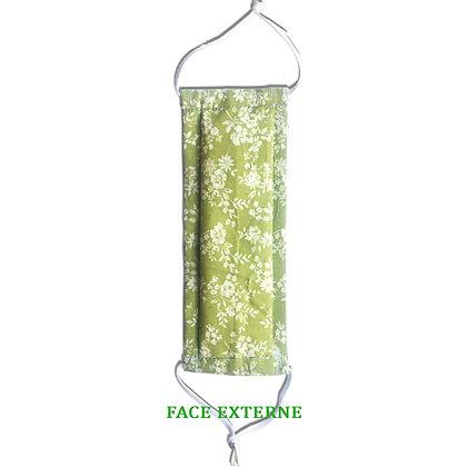 Masque réutilisable en coton vert