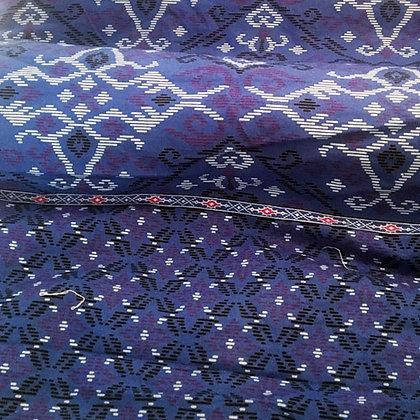 Batik Javanais Bleu, 100% Coton.
