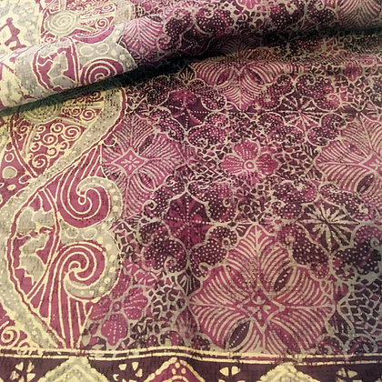 "Batik Javanais ""Tulis"" Carmin, 100% Coton."