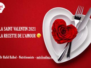 L'assiette de l'amour pour la saint valentin
