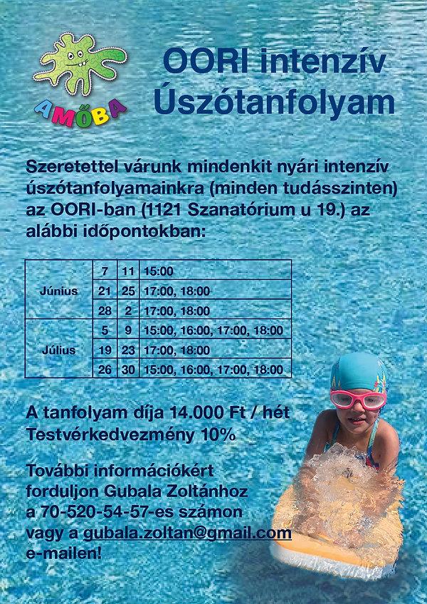 Intenzív úszótanfolyam OORI-ban