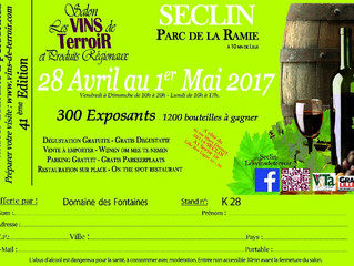 Invitation auSalon des Vins de Seclindu 28 avril au 1er mai
