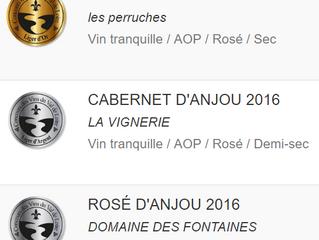 3 rosés médaillés aux Ligers 2017