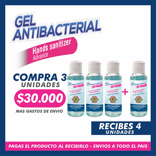 Gel Atibacterial Hands Sanitizer Advanced - 60ML