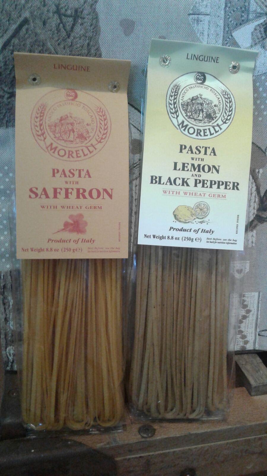 Saffron and Lemon & Black Pepper