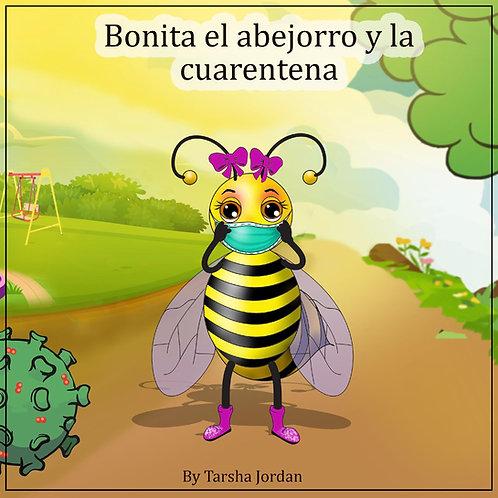 Bonita el abejorro y la cuerentena (libro para colorear) con máscara