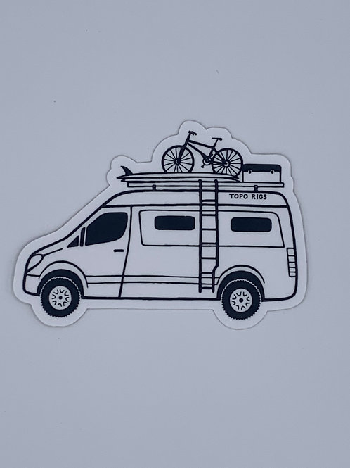 Topo Rigs van sticker