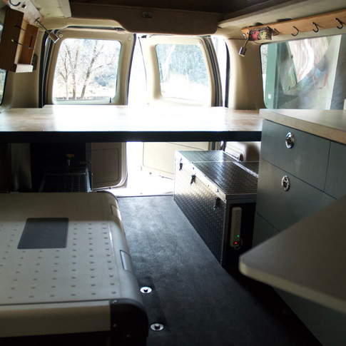 Ford E-series 350 campervan.