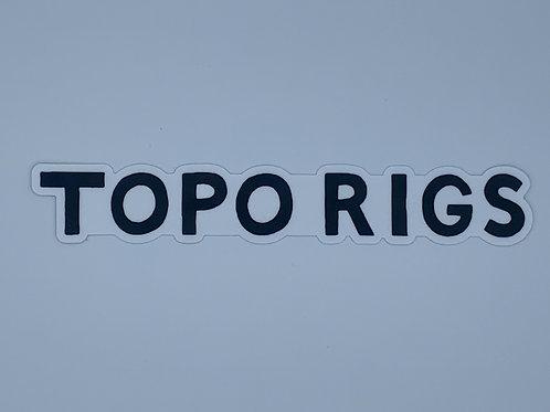 Topo Rigs sticker