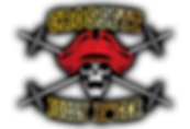 Crossfit Jolly Roger logo skull with barbell crossbones
