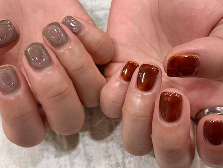 秋のnew nail