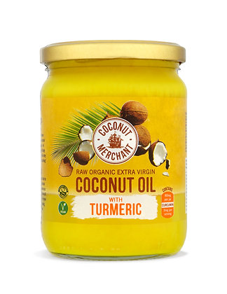 Organic Raw Extra Virgin Coconut Oil - Turmeric