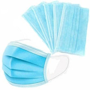 5x Face Mask - 3 PLY - Blue