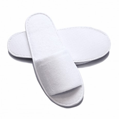 Disposable Open Toe Terry Slippers