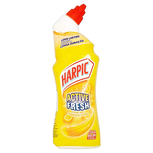 Harpic Active Fresh Toilet Cleaning Gel 750ml - Citrus Zest