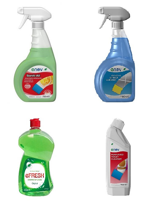 Cleaning Pack - Multipurpose Spray ,Descaler/Toilet, Window & Glass, Washing Up